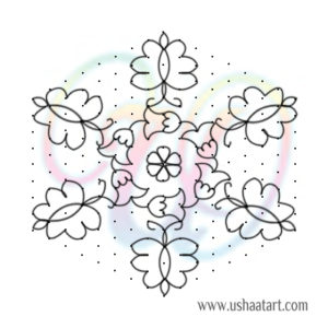 Butterfly Kolam 13