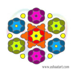 Flower Kolam 89