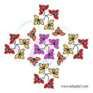 Flower Kolam 85