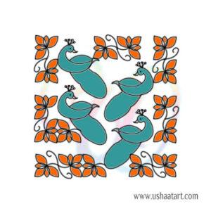 Peacock Kolam 11