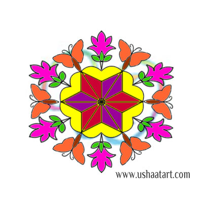 Flower Kolam 86