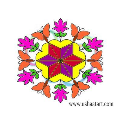 Flower Kolam 86