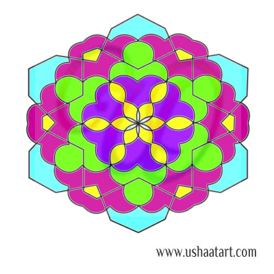Flower Kolam 87