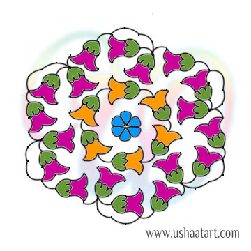 Flower Kolam 88