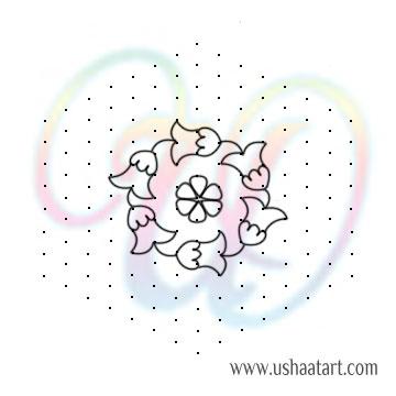 Flower Kolam 88