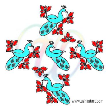 Peacock Kolam 17