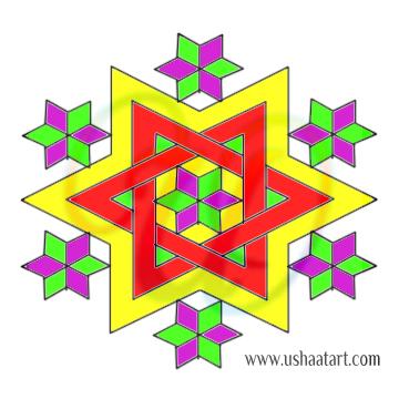 Star Kolam 16