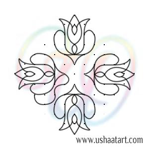 Flower Kolam 90