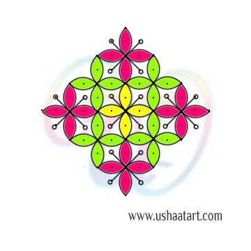 Flower Kolam 91