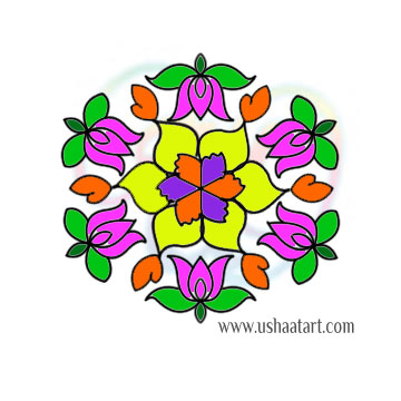 Flower-Kolam93Color