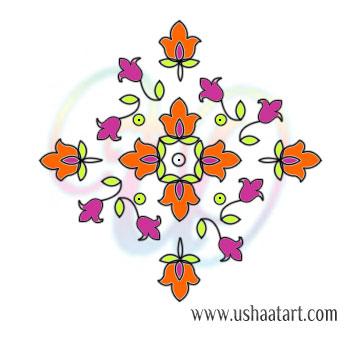 Flower Kolam 96
